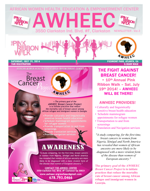 AWHEEC breast cancer issue